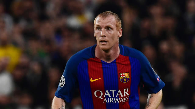 The Frenchman has done enough to earn a contract after a trial period in Lisbon and leaves the Catalan club having won nine trophies in total