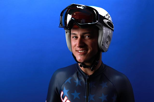 <p>poses for a portrait during the Team USA Media Summit ahead of the PyeongChang 2018 Olympic Winter Games on September 26, 2017 in Park City, Utah. </p>