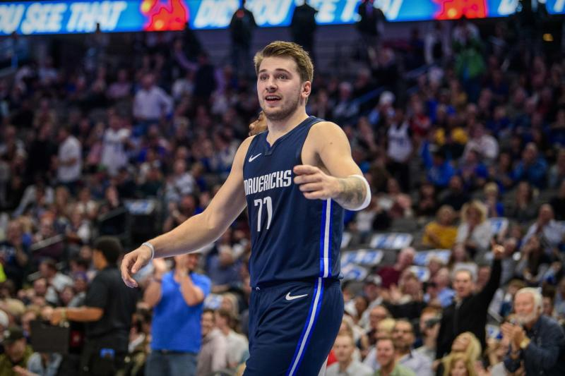 Luka Doncic's breakout season continues to hit new heights. (Jerome Miron/USA Today)