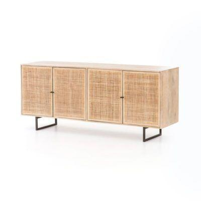 "<p><strong>Mecox</strong></p><p>mecox.com</p><p><strong>$1595.00</strong></p><p><a href=""https://mecox.com/shop/living/entertainment-centers/natural-mango-wood-and-cane-buffet/"" rel=""nofollow noopener"" target=""_blank"" data-ylk=""slk:Shop Now"" class=""link rapid-noclick-resp"">Shop Now</a></p><p>Take your dining room's china storage up a notch with the tonal Natural Mango Wood and Cane buffet from Mecox. </p>"