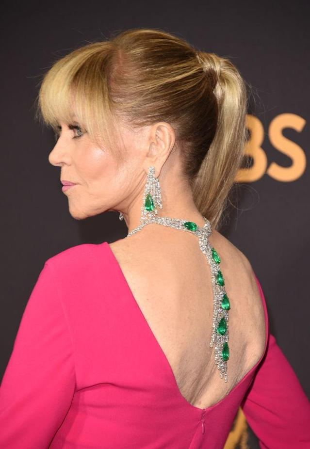 Just a cool million-plus draped down Jane Fonda's back. (Photo: Getty Images)