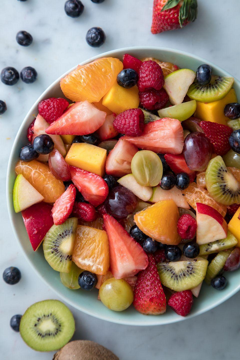 """<p>Everyone needs a good fruit salad. </p><p>Get the recipe from <a href=""""https://www.delish.com/cooking/recipe-ideas/a19609963/easy-fruit-salad-recipe/"""" rel=""""nofollow noopener"""" target=""""_blank"""" data-ylk=""""slk:Delish"""" class=""""link rapid-noclick-resp"""">Delish</a>.</p><p><a class=""""link rapid-noclick-resp"""" href=""""https://www.amazon.com/OXO-Grips-Utility-Cutting-Board/dp/B000CBOTQ8?tag=syn-yahoo-20&ascsubtag=%5Bartid%7C1782.g.4110%5Bsrc%7Cyahoo-us"""" rel=""""nofollow noopener"""" target=""""_blank"""" data-ylk=""""slk:BUY NOW"""">BUY NOW</a> OXO Cutting Board, 6;15<br></p>"""