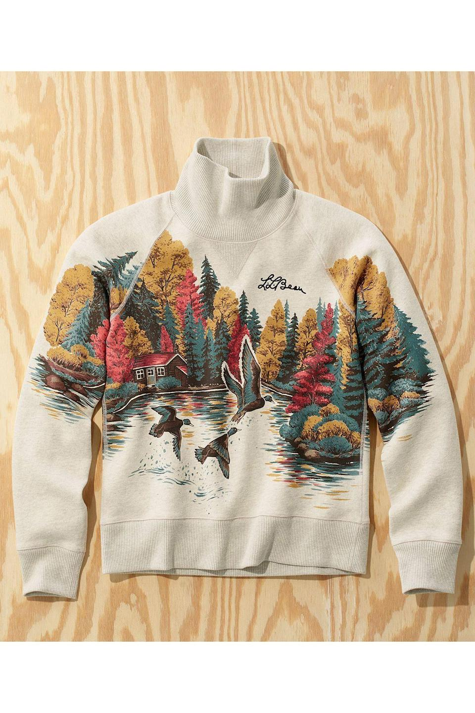 """<p><strong>L.L.Bean x Todd Snyder</strong></p><p>toddsnyder.com</p><p><a href=""""https://go.redirectingat.com?id=74968X1596630&url=https%3A%2F%2Fwww.toddsnyder.com%2Fcollections%2Fl-l-bean-x-todd-snyder-three%2Fproducts%2Fllb-x-ts-duck-scenic-sweatshirt-light-grey-heather-1&sref=https%3A%2F%2Fwww.townandcountrymag.com%2Fstyle%2Fmens-fashion%2Fg34524507%2Ftodd-snyder-and-ll-bean-collaboration%2F"""" rel=""""nofollow noopener"""" target=""""_blank"""" data-ylk=""""slk:Shop Now"""" class=""""link rapid-noclick-resp"""">Shop Now</a></p>"""