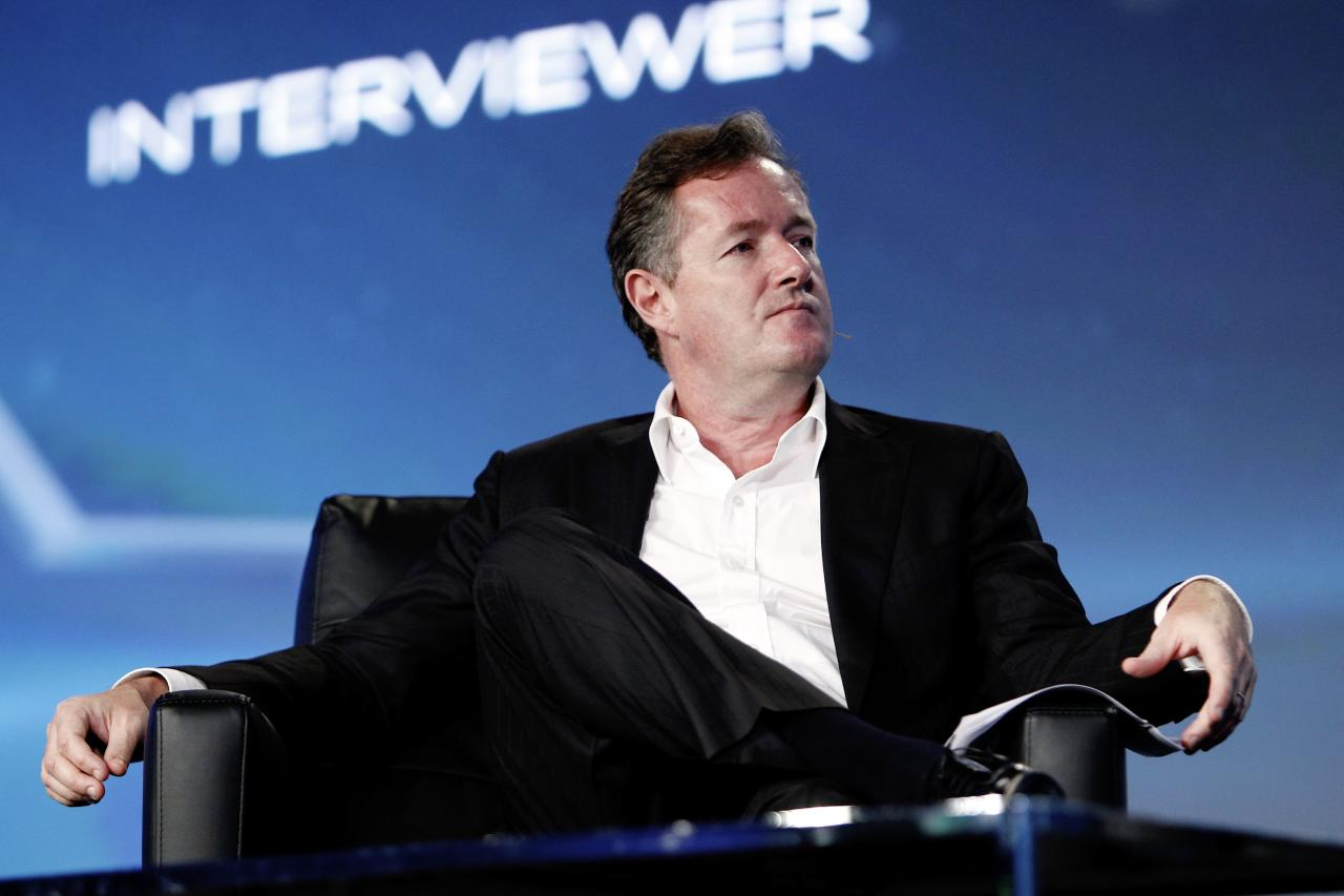 LOS ANGELES, CA - JUNE 20:  CNN's Piers Morgan speaks during  PROMAXBDA 2013 at JW Marriott Los Angeles at L.A. LIVE on June 20, 2013 in Los Angeles, California.  (Photo by Joe Kohen/Getty Images)