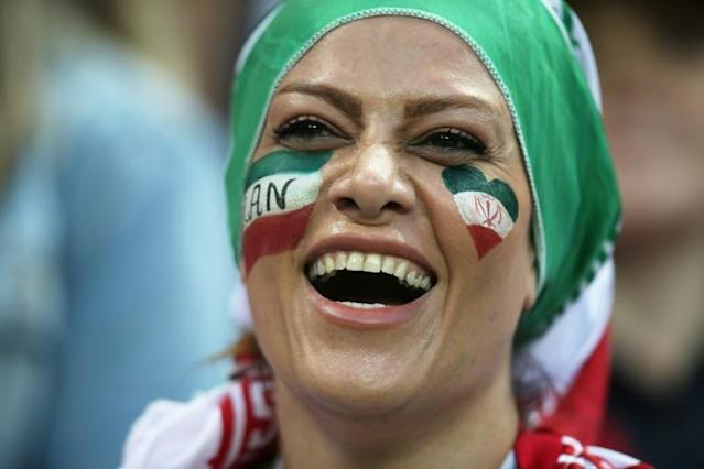 An Iran fan attends the Russia 2018 World Cup Group B football match between Iran and Spain at the Kazan Arena in Kazan (AFP Photo/Roman Kruchinin)