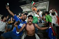 Euphoric fans celebrate Italy's Wembley triumph in Milan