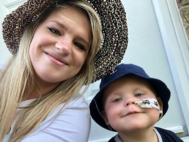 Samantha Hall and her son Jackson who defied the odds (Picture: SWNS)