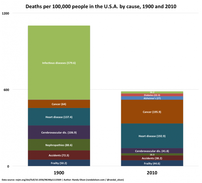 Causes of death chart