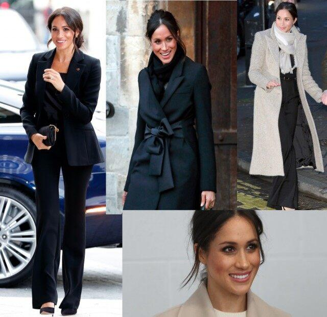 Meghan Markle Bun and Black Pants