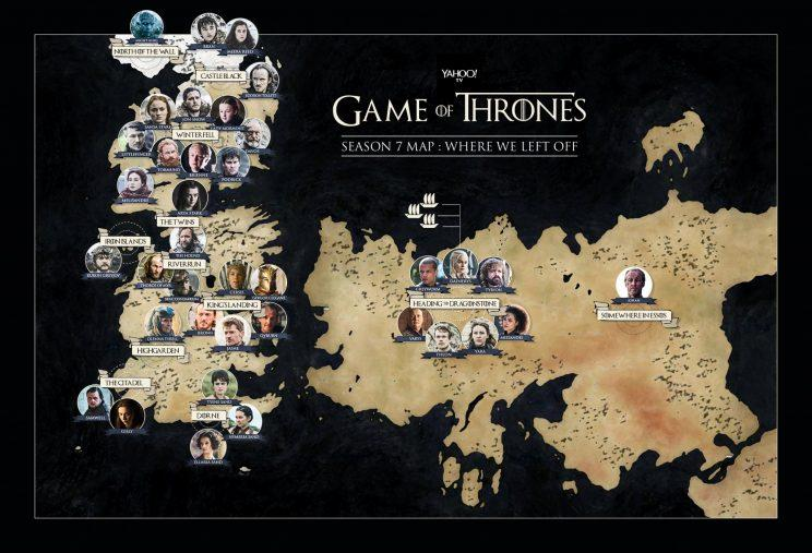 Game of thrones season 7 map a catch up guide to where everyone is designed by quinn lemmers gumiabroncs Images