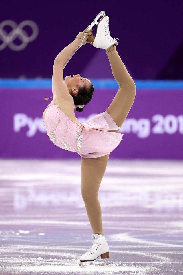 <p>Aimee Buchanan of Israel competes in the Figure Skating Team Event – Ladies' Short Program on day two of the PyeongChang 2018 Winter Olympic Games at Gangneung Ice Arena on February 11, 2018 in Gangneung, South Korea. (Photo by Jamie Squire/Getty Images) </p>