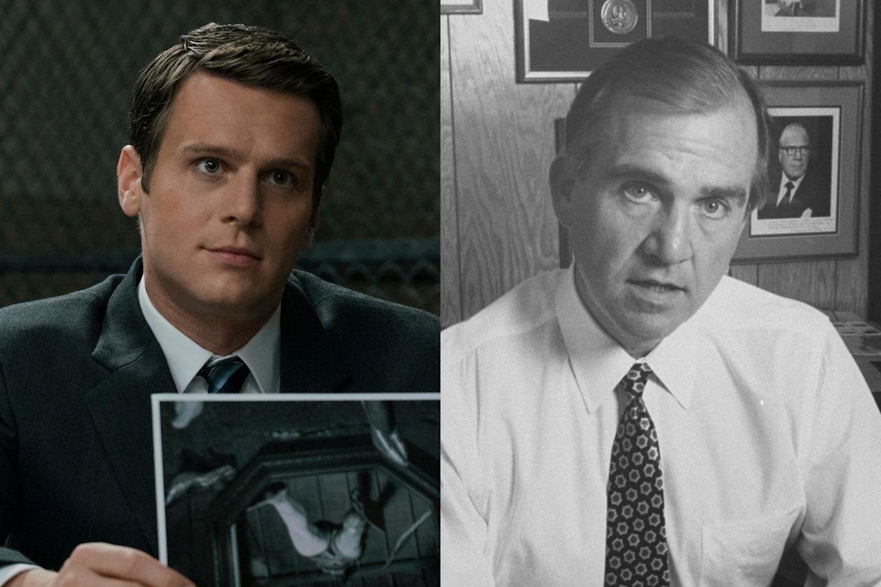 "<p>Ford, played by Jonathan Groff, is based on John E. Douglas, the author of <em><a href=""https://www.amazon.com/Mindhunter-Inside-Elite-Serial-Crime-dp-1501191969/dp/1501191969/"" target=""_blank"">Mindhunter: Inside the FBI's Serial Crime Unit</a></em><a href=""https://www.amazon.com/Mindhunter-Inside-Elite-Serial-Crime-dp-1501191969/dp/1501191969/"" target=""_blank"">.</a> Like Ford, Douglas interviewed serial killers David Berkowitz, Ed Kemper, Charles Manson, and Richard Speck. The Netflix show is inspired by Douglas's book, but also takes plenty of creative license. <em></em></p>"