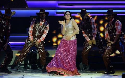Sridevi Kapoor performing at the 14th International Indian Film Academy Awards in 2013 - Credit: INDRANIL MUKHERJEE