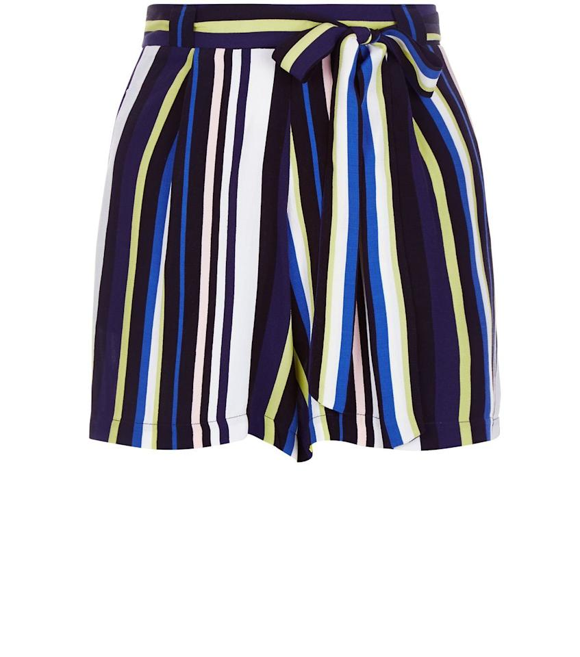 "<p>You can never go wrong with stripes. We love these sassy shorts from New Look. <i><a href=""http://www.newlook.com/shop/womens/shorts/blue-stripe-belted-shorts_377560949?extcam=UK_PPC_PLA_3775612_CR_98077898074_DV_c&tmcampid=155&tmad=c&tmplaceref=UK_PPC_PLA_3775612_CR_98077898074_DV_c&gclid=CNTFqNCe-swCFUa4GwodgzcHkQ"">[New Look, £14.99]</a></i></p>"