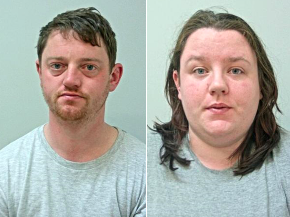 David Noble and Nicole Cavin were both jailed after bing found guilty of manslaughter. (Reach)