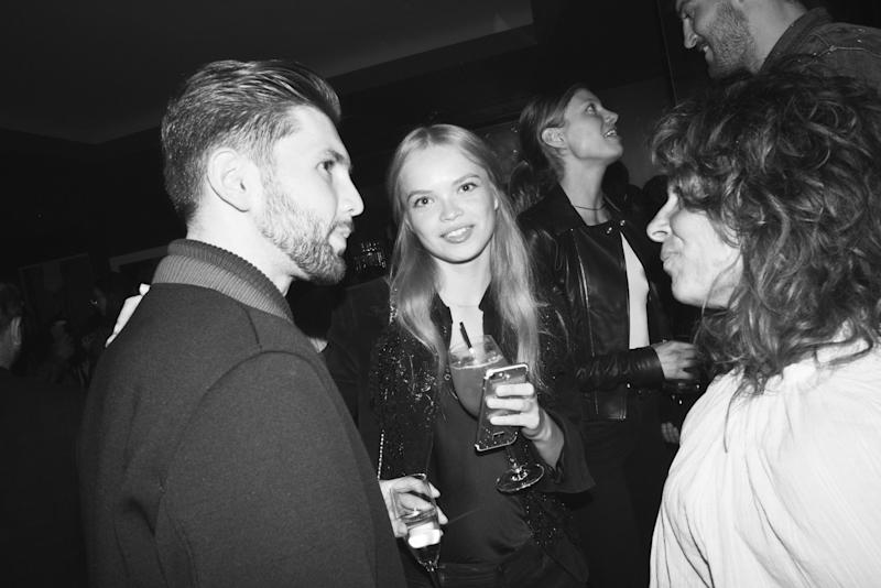 The scene from inside the Wilhelmina New York Fashion Week party at The Blond.