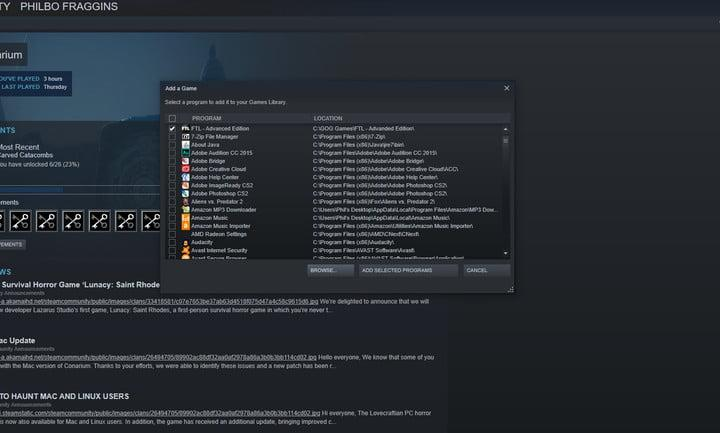 how to add games to steam add external games