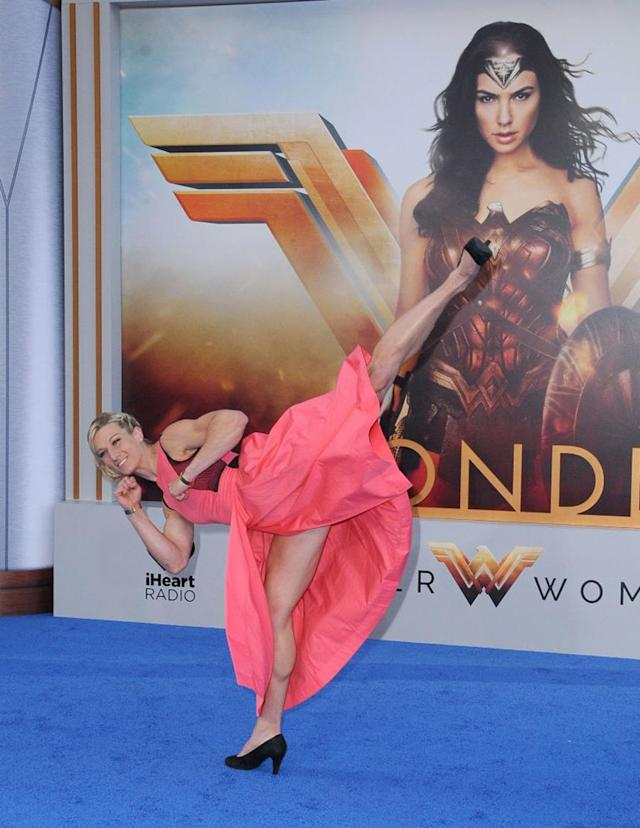 "<p>The ""Supergirl"" stuntwoman and ""American Ninja Warrior"" competitor on May 25. (Photo: Barry King/Getty Images) </p>"