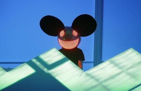 Deadmau5 performs at the 54th annual Grammy Awards in Los Angeles