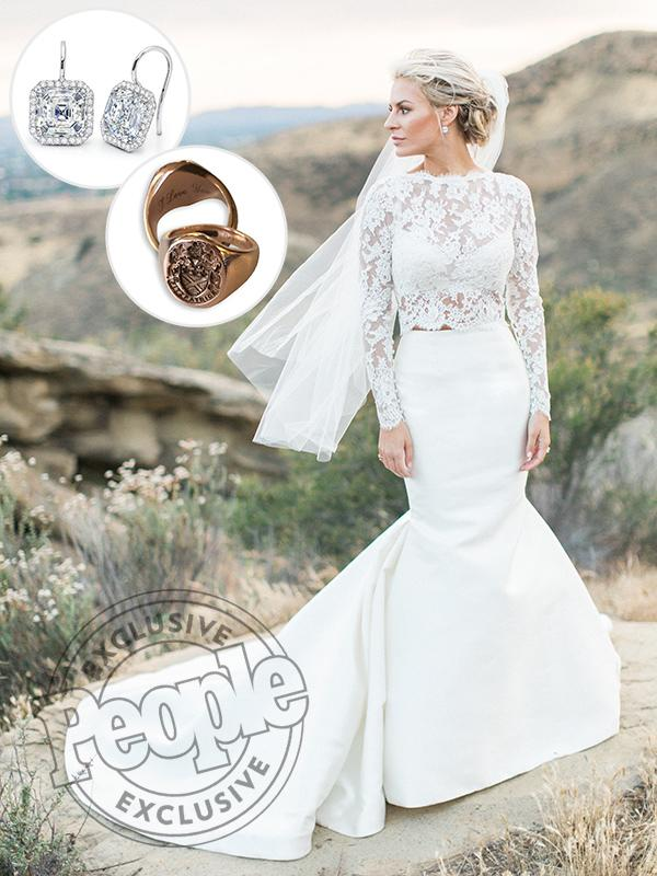 Rich kids of beverly hills star morgan stewart 39 s two piece for Beverly hills wedding dresses