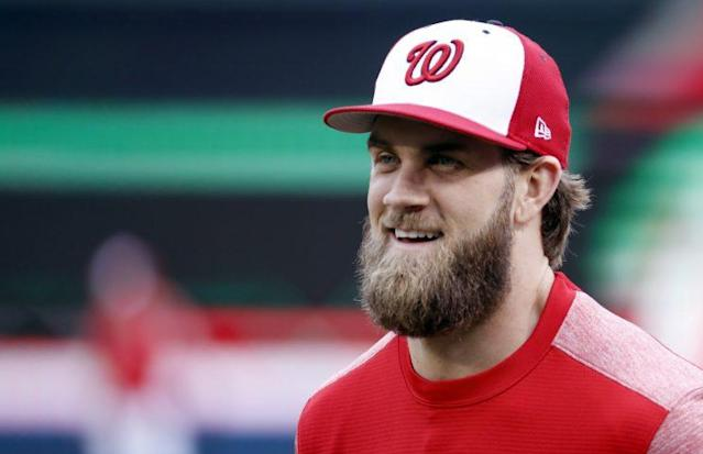 Nationals slugger Bryce Harper will once again lead the NL. (AP Photo)
