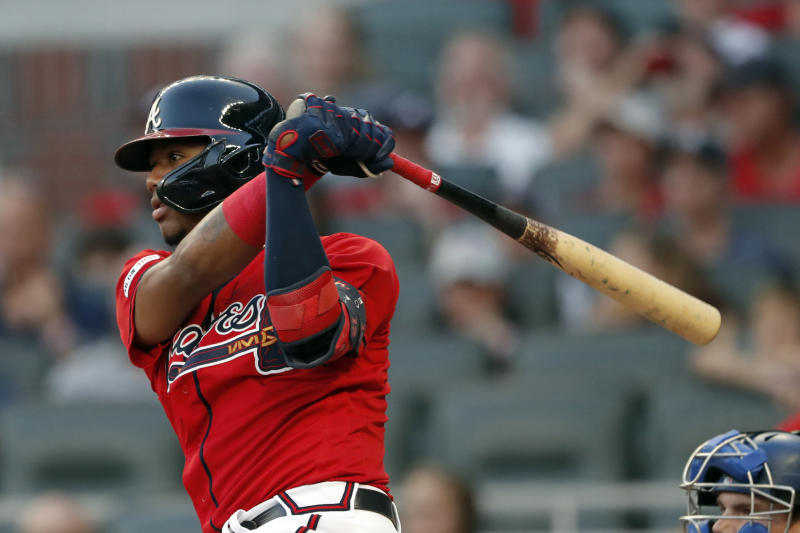 Acuña yanked, Ortega slam lead Braves over Dodgers 5-3
