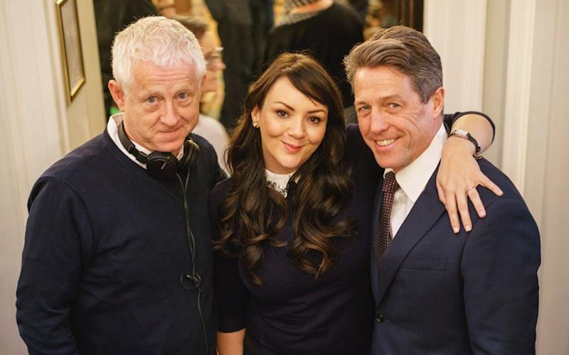 McCutcheon reunites with Richard Curtis and Hugh Grant for Red Nose Day Actually - Credit: Emma Freud/Twitter