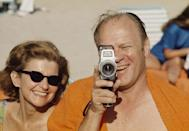 <p>Gerald Ford eyes the press with his personal handheld camera, while vacationing with his wife, Betty Ford, at the Mauna Kea Resort in Hawaii in 1973. </p>