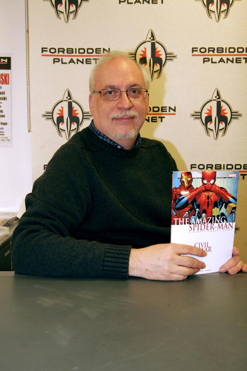 "J. Michael Straczynski during J. Michael Straczynski Signs Copies of his book ""The Amazing Spider-Man"" at Forbidden Planet - May 12, 2007 at Forbidden Planet in London, Great Britain. (Photo by Stefan Jeremiah/FilmMagic)"
