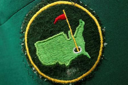 The green jacket of a member of the Augusta National Golf Club bearing a worn club patch embroidered onto the pocket is seen during the first day of practice rounds for the 2017 Masters in Augusta, Georgia, U.S. April 3, 2017. REUTERS/Jonathan Ernst