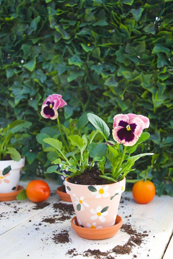 """<p>Keep it simple by taking a terra cotta pot and painting cute daisies all over it.</p><p><strong>Get the tutorial at <a href=""""https://www.pmqfortwo.com/tabletop-garden-decoart-project-due"""" rel=""""nofollow noopener"""" target=""""_blank"""" data-ylk=""""slk:PMQ for Two"""" class=""""link rapid-noclick-resp"""">PMQ for Two</a>.</strong></p><p><a class=""""link rapid-noclick-resp"""" href=""""https://go.redirectingat.com?id=74968X1596630&url=https%3A%2F%2Fwww.walmart.com%2Fip%2FPlaid-19148-Unpainted-Surface-Medium-Terra-Cotta-Flower-Pot-1-Piece-4%2F25596820&sref=https%3A%2F%2Fwww.thepioneerwoman.com%2Fhome-lifestyle%2Fgardening%2Fg36556911%2Fdiy-planters%2F"""" rel=""""nofollow noopener"""" target=""""_blank"""" data-ylk=""""slk:SHOP TERRA COTTA POTS"""">SHOP TERRA COTTA POTS</a></p>"""