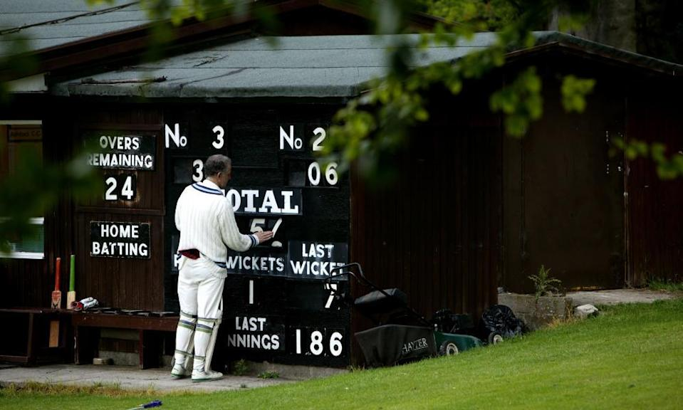 A cricketer from Ashford in the Water Cricket Club.