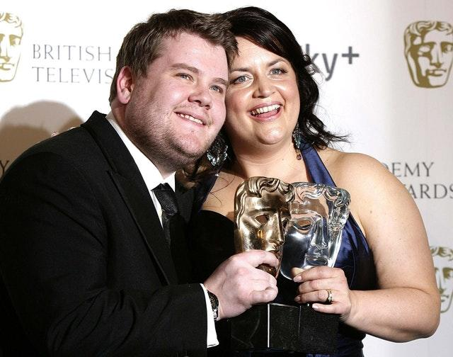 James Corden and Ruth Jones in 2007