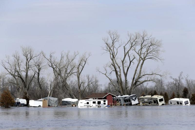 """The Midwest is facing even more """"historic and catastrophic flooding,"""" according to the National Weather Service in the wake of a bomb cyclone that dumped…"""