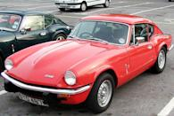 <p>English automaker Triumph may be better known for its traditional roadsters, but it produced the sharp GT6 sports coupe from the chassis of its Spitfire convertible.</p>