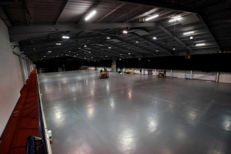 Telford International Centre, an events venue in central England, has stood largely empty since late March after COVID rules barred conferences