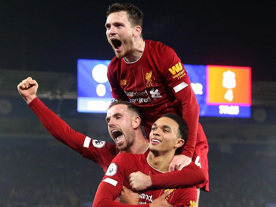Jordan Henderson (left), Andy Robertson (top) and Trent Alexander-Arnold were among the Liverpool players to post anti-ESL statements (Getty Images)