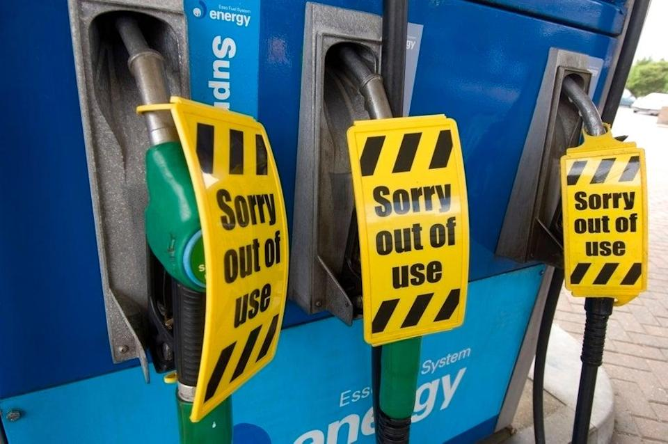 Some petrol stations are running out of fuel due to panic buying (Alamy/PA)