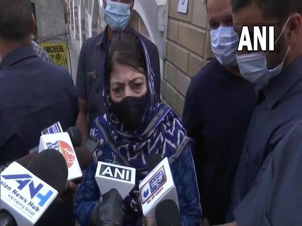 Former Chief Minister of Jammu and Kashmir Mehbooba Mufti (Photo/ANI)