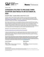 CUL Q3 2020 Pre-Earnings (CNW Group/Canadian Utilities Limited)