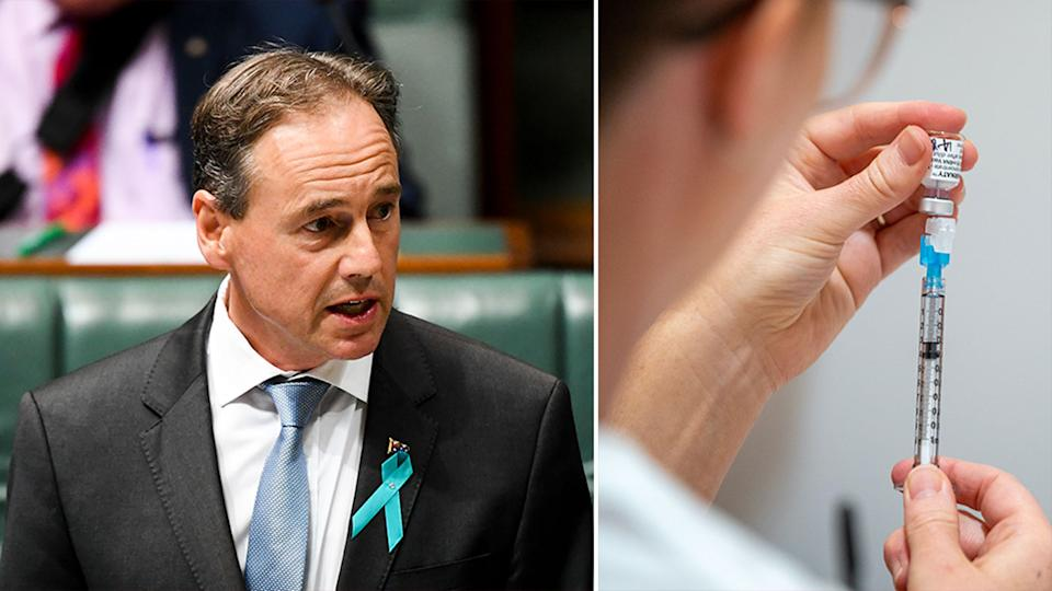 Greg Hunt has confirmed the doctor who gave excessive doses of the Covid vaccine did not undertake training. Source: AAP