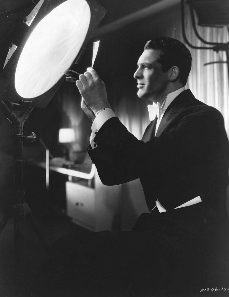 """<p>In 1928, the aspiring actor had his first screen test, after being scouted in a play on Broadway, however he <a href=""""https://www.universityfox.com/stories/cary-grants-daughter-and-former-wife-talk-about-his-struggles-with-family-life/"""" rel=""""nofollow noopener"""" target=""""_blank"""" data-ylk=""""slk:reportedly failed to nail the audition"""" class=""""link rapid-noclick-resp"""">reportedly failed to nail the audition</a>.</p>"""