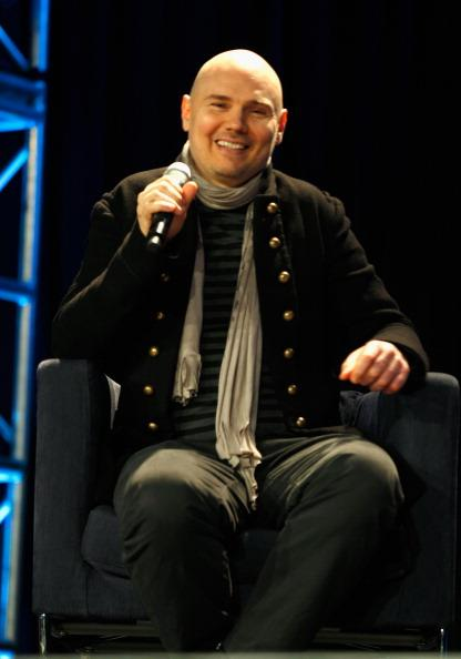 AUSTIN, TX - MARCH 12: Musician Billy Corgan speaks onstage at The End of Business As Usual during the 2012 SXSW Music, Film   Interactive Festival at Austin Convention Center on March 12, 2012 in Austin, Texas.