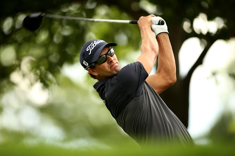 Australia's Adam Scott during the final round of The Barclays in Paramus, New Jersey on August 24, 2014