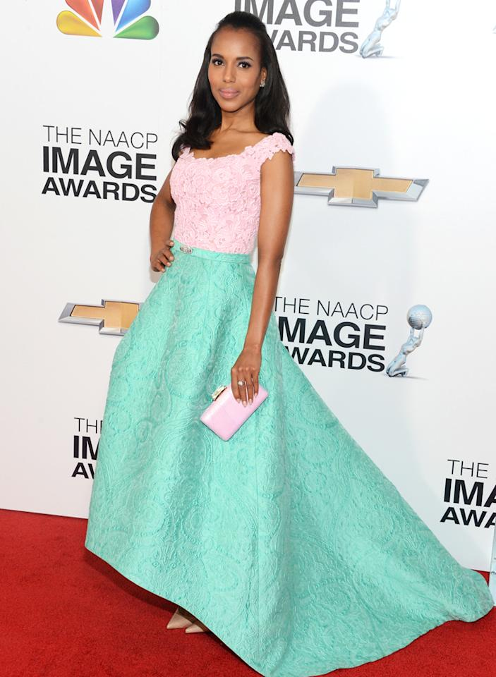 LOS ANGELES, CA - FEBRUARY 01:  Actress Kerry Washington arrives at the 44th NAACP Image Awards held at The Shrine Auditorium on February 1, 2013 in Los Angeles, California.  (Photo by Jason Kempin/WireImage)