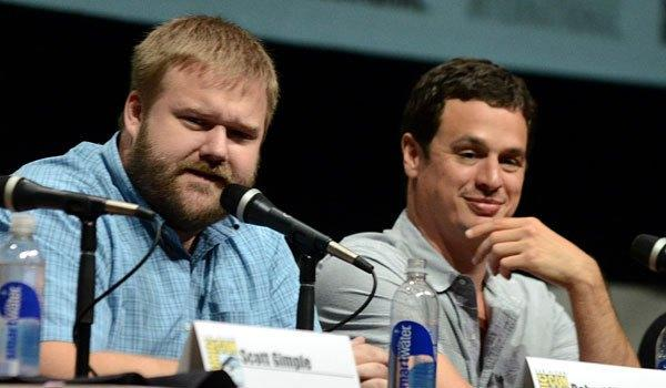 """""""Walking Dead"""" executive producers Robert Kirkman, left, and David Alpert, who are engaged in lawsuit against AMC. <span class=""""copyright"""">(Jordan Strauss / Invision/Associated Press)</span>"""