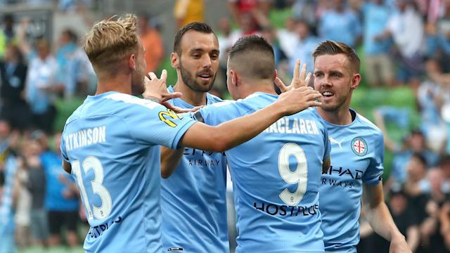 A pair of Jamie Maclaren goals had Melbourne City cruising until two penalties in a frantic spell almost rescued a point for Western United.