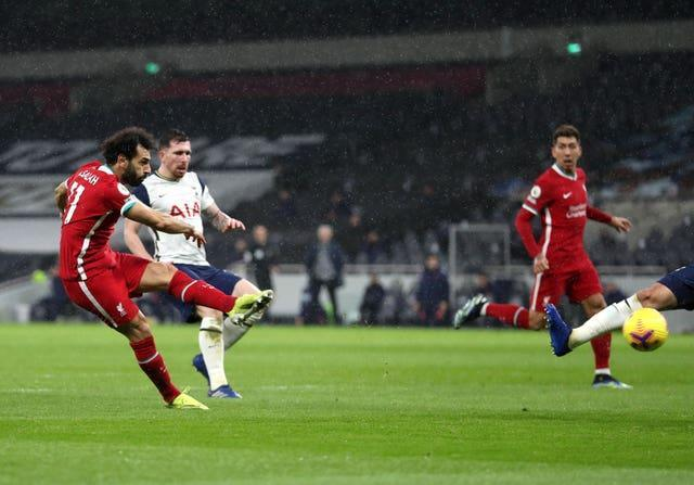 Salah (left) has been prolific since his arrival at Liverpool