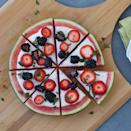 <p>This refreshing fruit dessert pizza recipe swaps classic cookie crust with a healthier watermelon crust. Topped with yogurt sauce, your favorite berries and mint, this fresh dessert can easily be doubled for a party or halved for every day.</p>
