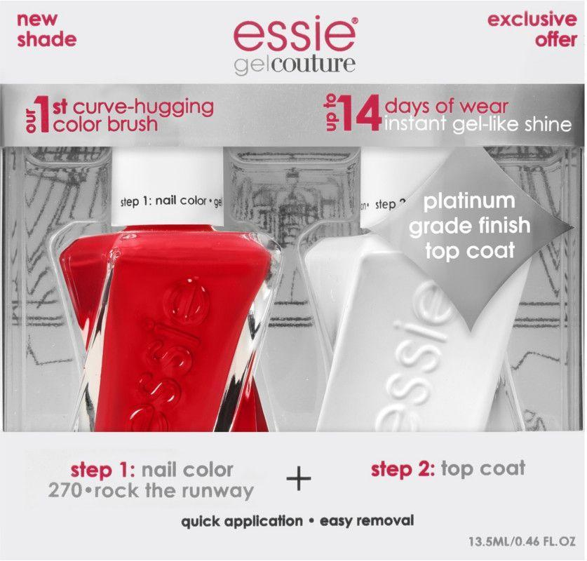 """<p><strong>Essie</strong></p><p>amazon.com</p><p><strong>$18.49</strong></p><p><a href=""""https://www.amazon.com/essie-Couture-Nail-Polish-Thread/dp/B073WYPXK6?tag=syn-yahoo-20&ascsubtag=%5Bartid%7C10055.g.32816631%5Bsrc%7Cyahoo-us"""" rel=""""nofollow noopener"""" target=""""_blank"""" data-ylk=""""slk:Shop Now"""" class=""""link rapid-noclick-resp"""">Shop Now</a></p><p>Want to leave the drying lamps to the salon? No problem. <strong>Essie's gel nail polish formula is only two steps — color, then a top coat. </strong>These polishes are sold in kits and <a href=""""https://www.ulta.com/gel-couture?productId=xlsImpprod14371015"""" rel=""""nofollow noopener"""" target=""""_blank"""" data-ylk=""""slk:individually"""" class=""""link rapid-noclick-resp"""">individually</a>, so you can keep stocking up on new shades. While some gel polish can be harsh on nails, this one is made to be gentle. One reviewer raved, """"this lasts perfectly for over a week and my nails look healthy when it is removed.""""</p>"""